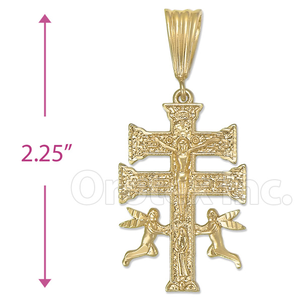 Oro tex gold layered caravaca cross charm oro laminado gold hover over image to zoom mozeypictures Choice Image