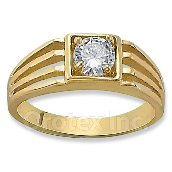 Orotex Gold Layered CZ Kids Boys Ring Oro Laminado Gold
