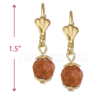 020010 Gold Layered Stone Earrings