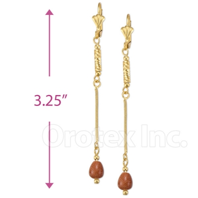020013 Gold Layered Stone Earrings