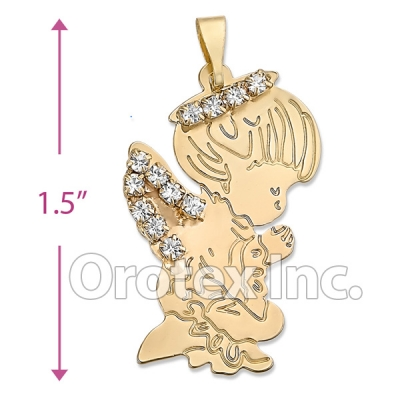 045029 Gold Layered CZ Charm