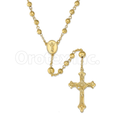 046003 Gold Layered Diamond Cut  Rosary