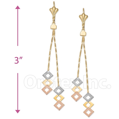 063007 Gold Layered Long Earrings