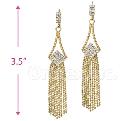 066005 Gold Layered CZ Earrings