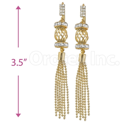 080009 Gold Layered CZ Earrings
