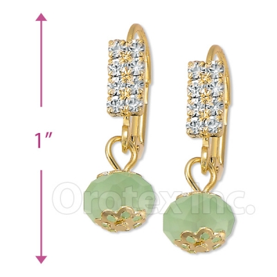 091024 Gold Layered Crystal Long Earrings