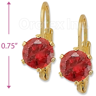 092061 Gold Layered Birth Stone Earrings