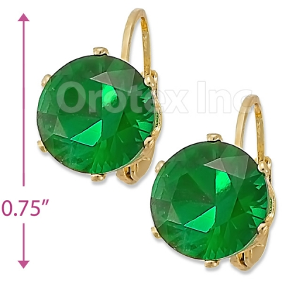 092106 Gold Layered Birth Stone Earrings