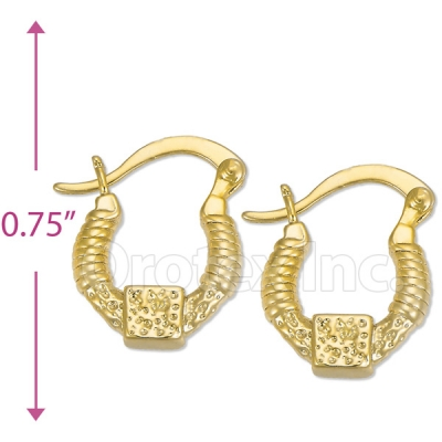 Oro Tex Gold Layered Hoop Earrings