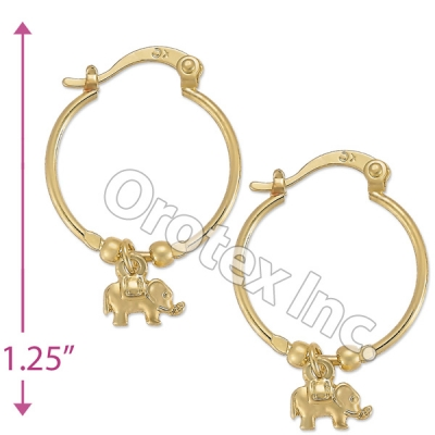 104027 Gold Layered Hoop Earrings