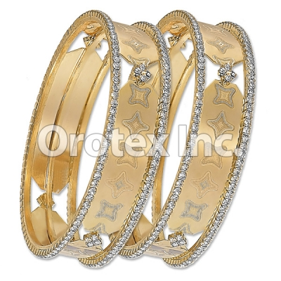 B002Gold Plated CZ Bangle