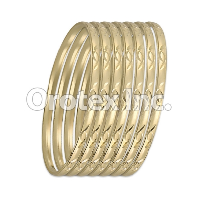 B028 Gold Plated Bangle