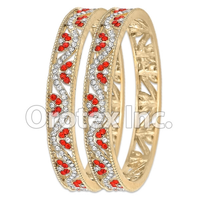 B093 Gold Layered CZ Bangle