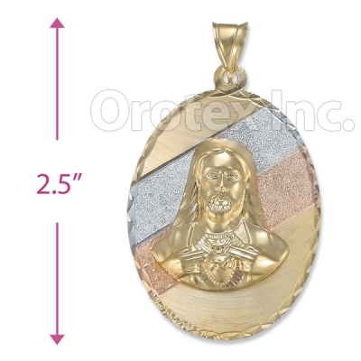 Orotex Gold Layered Tri-color Charm