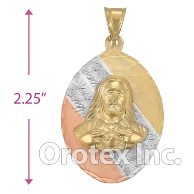 CL35B Gold Layered Tri-color Charm