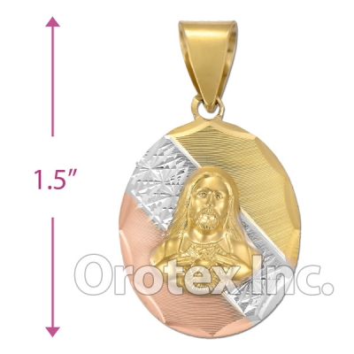 CL62B Gold Layered Tri-Color Charm