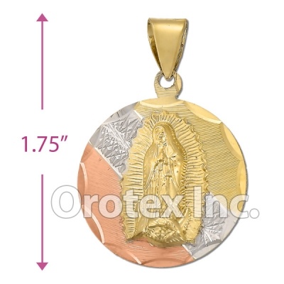 CL69B Gold Layered Tri-Color Charm