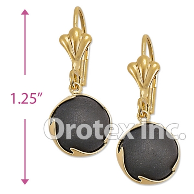 EL014 Gold Layered Long Earrings