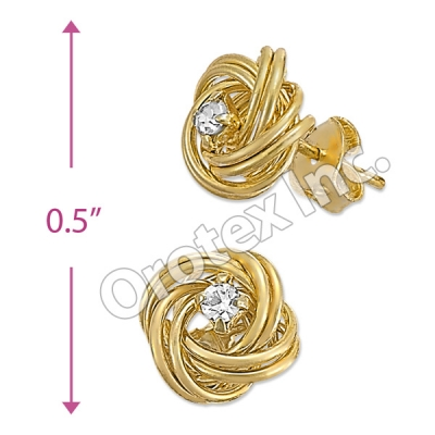 ES025 Gold Layered CZ Stud Earrings