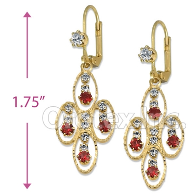 Orotex Gold Layered CZ Chandelier Earrings