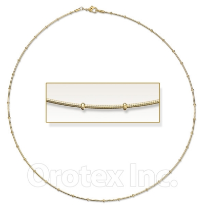 Orotex Gold Layered Omega Necklace