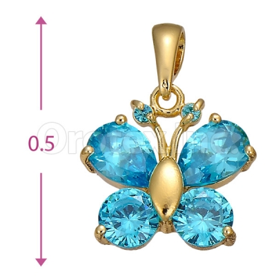 Orotex Gold Layered Butterfly Charm