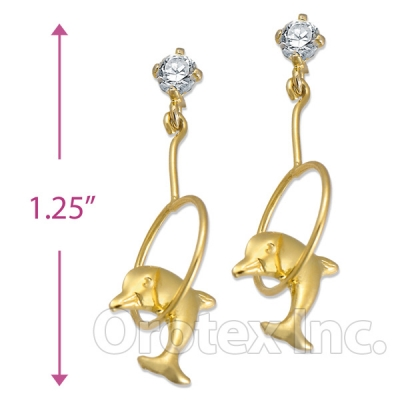 Orotex Gold Layered CZ Stud Earrings
