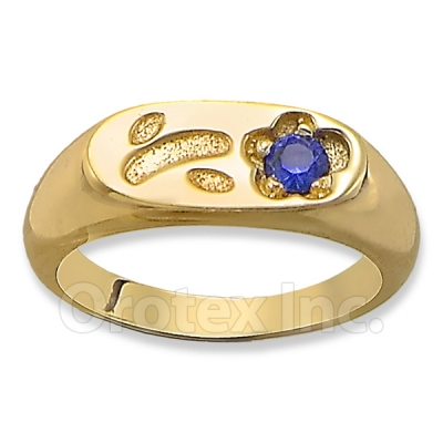 Orotex Gold Layered CZ Kid's (Girl's) Ring