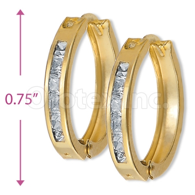 Orotex Gold Layered CZ Earring