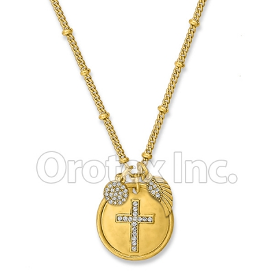 N032 Gold Layered CZ Necklace