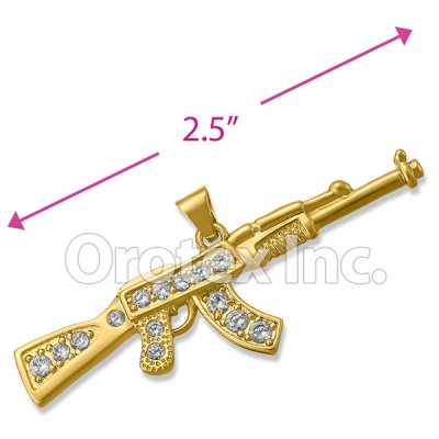 P203 Orotex Gold Layered Fancy CZ Charm