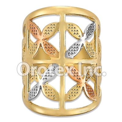 R004 Gold Layered Tri Color Women's Ring