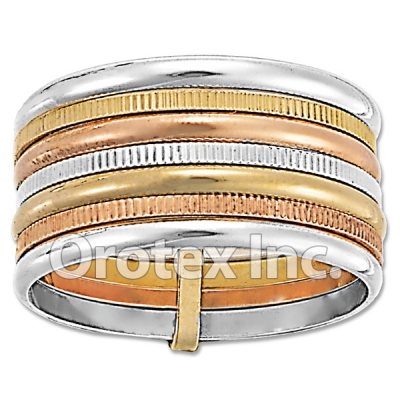 R012 Gold Layered Tri Color Women's Ring