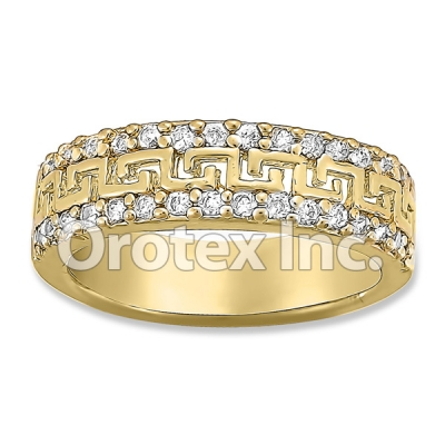 R069 Gold Layered CZ Ring