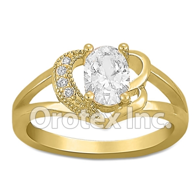 R092 Gold Layered CZ Ring