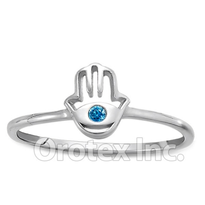 925 Sterling Silver Hand Of God Women's Ring