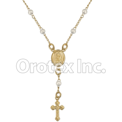 RSR007 Gold Layered Pearl Hand Rosary