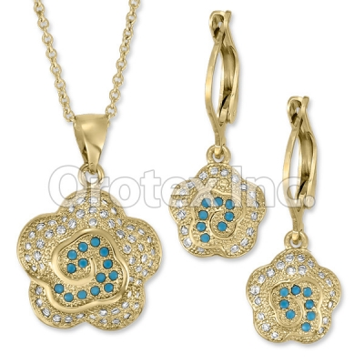 S 071 Gold Layered CZ Set