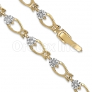 Orotex Gold Layered CZ Bracelet
