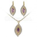 Orotex Gold Layered CZ Set