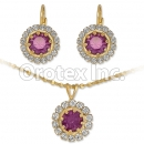 007011 Gold Layered CZ Set