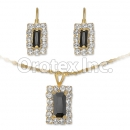 007013 Gold Layered CZ Set
