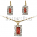 007016 Gold Layered CZ Set