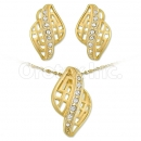 Oro Tex Gold Layered CZ Set