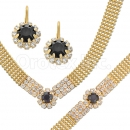 013002 Gold Layered CZ Set