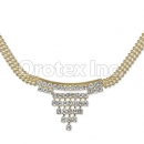 Orotex Gold Layered CZ Necklace