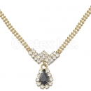 014006 Gold Layered CZ Necklace