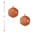 020006 Gold Layered Stone Earrings