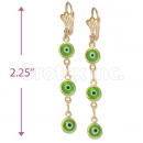 Oro Tex Gold Layered Eye Earrings