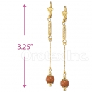020012 Gold Layered Stone Earrings